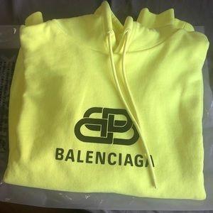 Balenciaga Logo Hoodie Lime Green